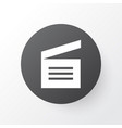 movie clap icon symbol premium quality isolated vector image