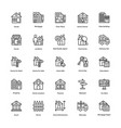 real estate line icons set 1 vector image