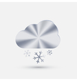 steel icon cloud snow vector image