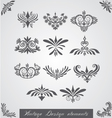 Vintage corners elements of design vector image