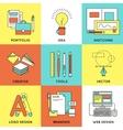 Web Design Line Icon Set vector image