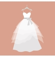 Wedding Dress in Flat Design vector image