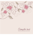 Floral twirl postcard vector image vector image