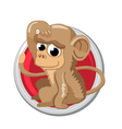 Monkey Orient horoscope sign isolated in circle vector image