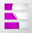Set of header banner dynamic wave design vector image vector image