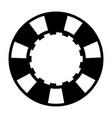 black casino poker chip vector image