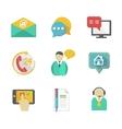 Customer Helpdesk Contacts Design Elements vector image