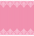 seamless pink frameborder in damask baroque style vector image