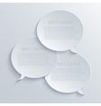 modern bubble speech light background vector image