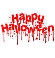 Happy Halloween sign blood vector image