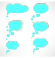 Paper Cloud bubble to speech blue element -2 vector image