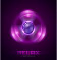 shine motion spinner for relax background light vector image