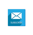 Subscribe button flat vector image