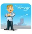Successful good looking businessman vector image