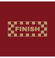 The finish icon Finish symbol Flat vector image