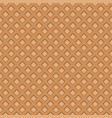 wafer seamless background waffles pattern vector image