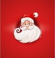 Smiling Santa Claus Christmas vector image
