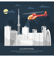 Helicopter Patrol vector image