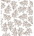 hand drawn seamless chamomile background vector image vector image