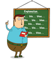 Teacher writing on board vector image vector image
