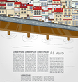 Old city template vector image