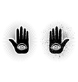 Hand and eye vector image vector image