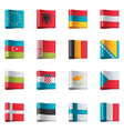 flags - europe part 1 vector image vector image