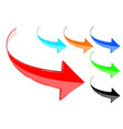 arrows colored 3d shiny icons vector image