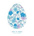 blue and pink kimono blossoms Easter egg vector image