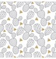 Cactus seamless pattern for fabric Hand drawn vector image