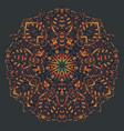 ethnic mandala design eastern pattern round vector image