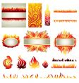 flame design elements vector image