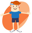 Hipster funny sportsman Flat style vector image