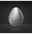 Kitchen aluminium timer vector image