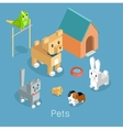 Pets Set Icon Isometric 3d Design vector image
