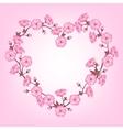 Spring sakura flowers Valentines day background vector image