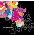 Abstract background with colored flowers vector image vector image
