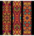 Festive colorful ethnic banner set vector image vector image