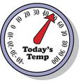 Todays Temperature vector image vector image