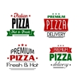 Italian pizza banners and labels vector image vector image