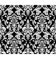 Seamless elegant damask pattern Black and white vector image