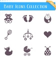 Baby icons collection vector image