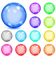 Multicolored opaque spheres vector image