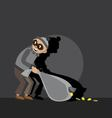 thief carries a bag vector image