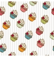 Vintage cupcakes pattern vector image vector image