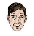 drawing face man pop art design vector image