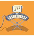 Electronic musical keyboard vector image
