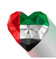 Flat style logo symbol of love Emirates vector image
