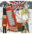Happy London Day greeting card vector image