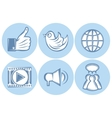 icons for social networking internet twitter Like vector image